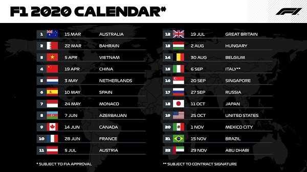 calendario-formula-1-f1-2020-carreras-campeonato-mundial