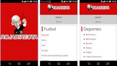 RojaDirecta Android Para Móvil y Tablet Android
