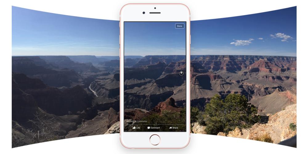 """<span href=""""https://9to5mac.com/2016/06/10/360-degree-photos-iphone/"""">Ahora puedes publicar 360 grados fotos en Facebook directamente desde iOS aplicación de la cámara</a>"""