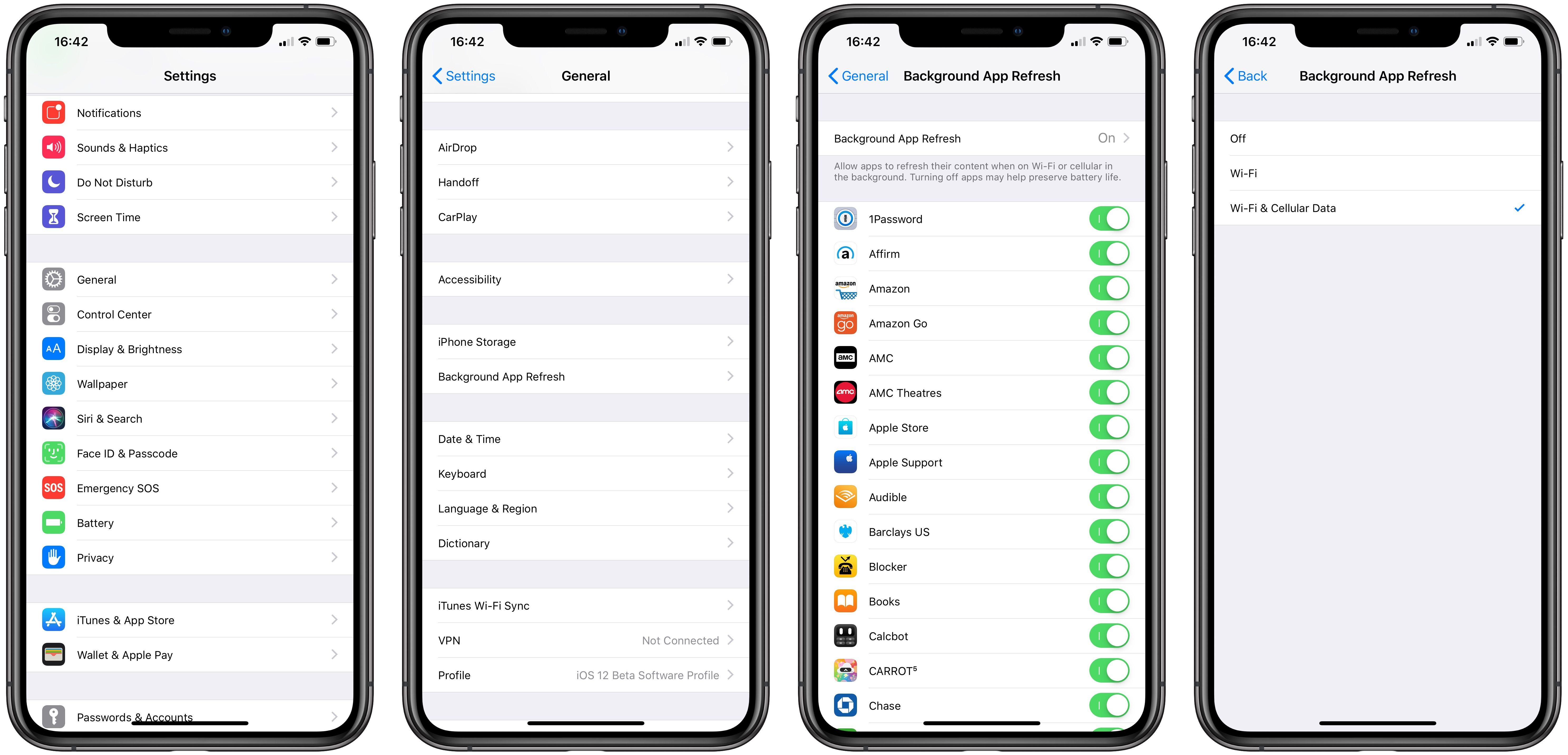 """<span href=""""https://9to5mac.com/2018/12/12/turn-off-background-app-refresh-on-iphone-and-ipad/"""">Cómo desactivar el fondo de la aplicación de actualización en el iPhone y el iPad</a>"""