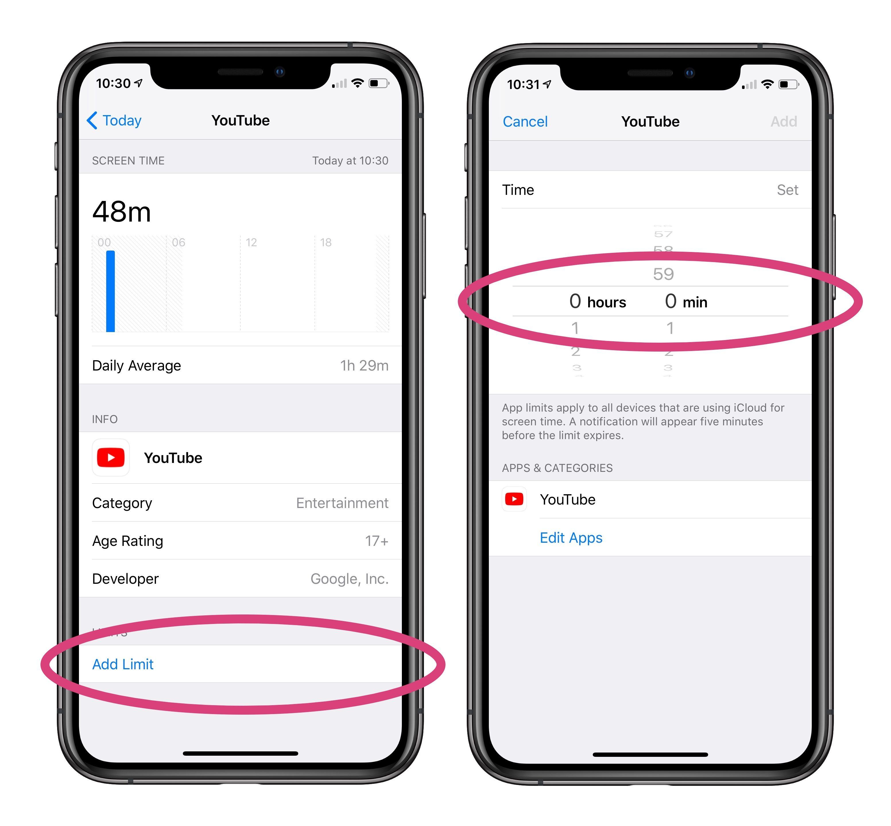 """<span href=""""https://9to5mac.com/2018/10/16/time-limit-app-limit-iphone-ipad/"""">iPhone límite de tiempo: Cómo establecer un límite de tiempo específico para una aplicación en iOS 12</a>"""