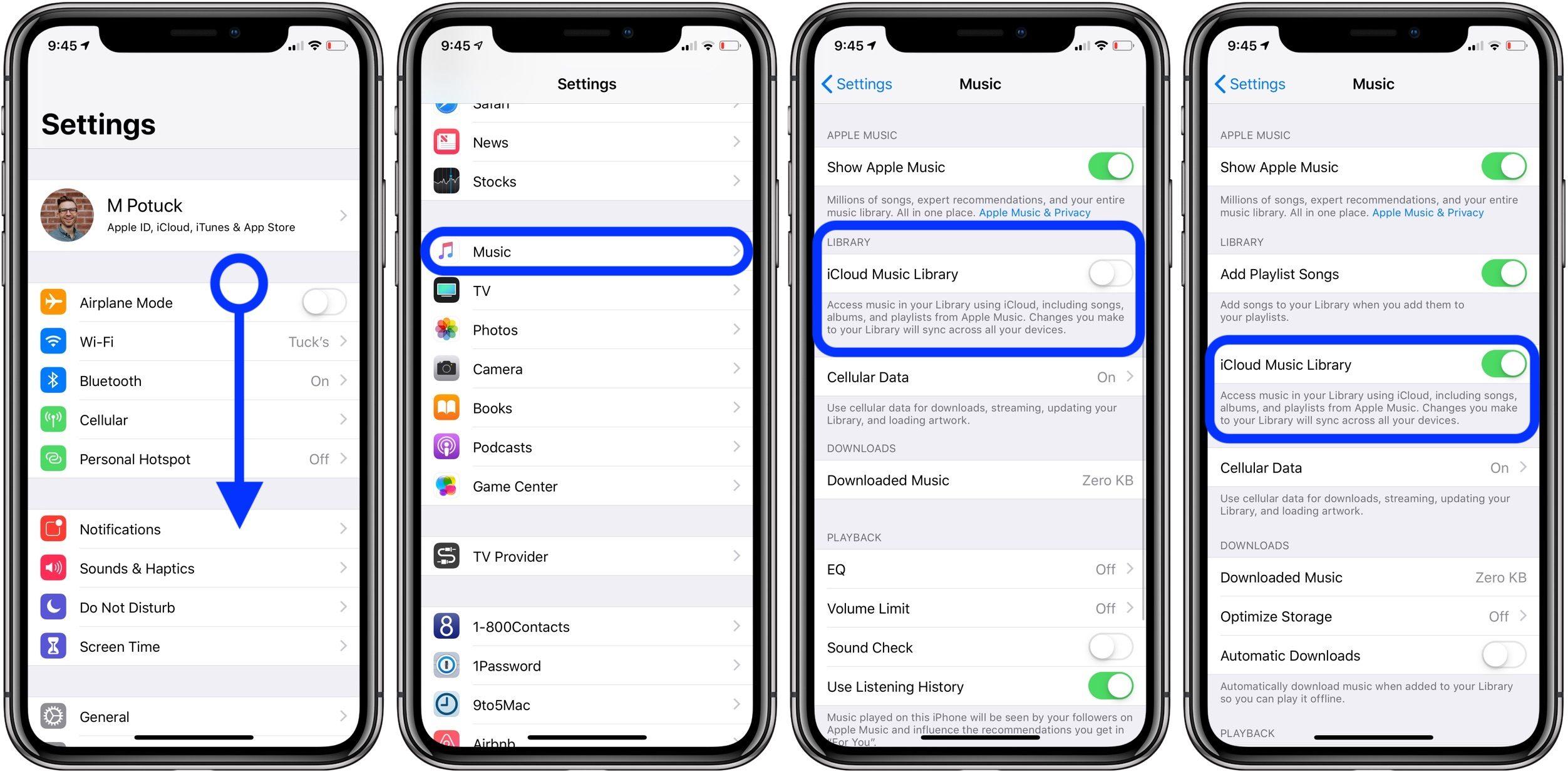 """<span href=""""https://9to5mac.com/2019/02/26/apple-music-library-missing/"""">Apple biblioteca de Música que faltan? Compruebe el iCloud de los ajustes de Música</a>"""
