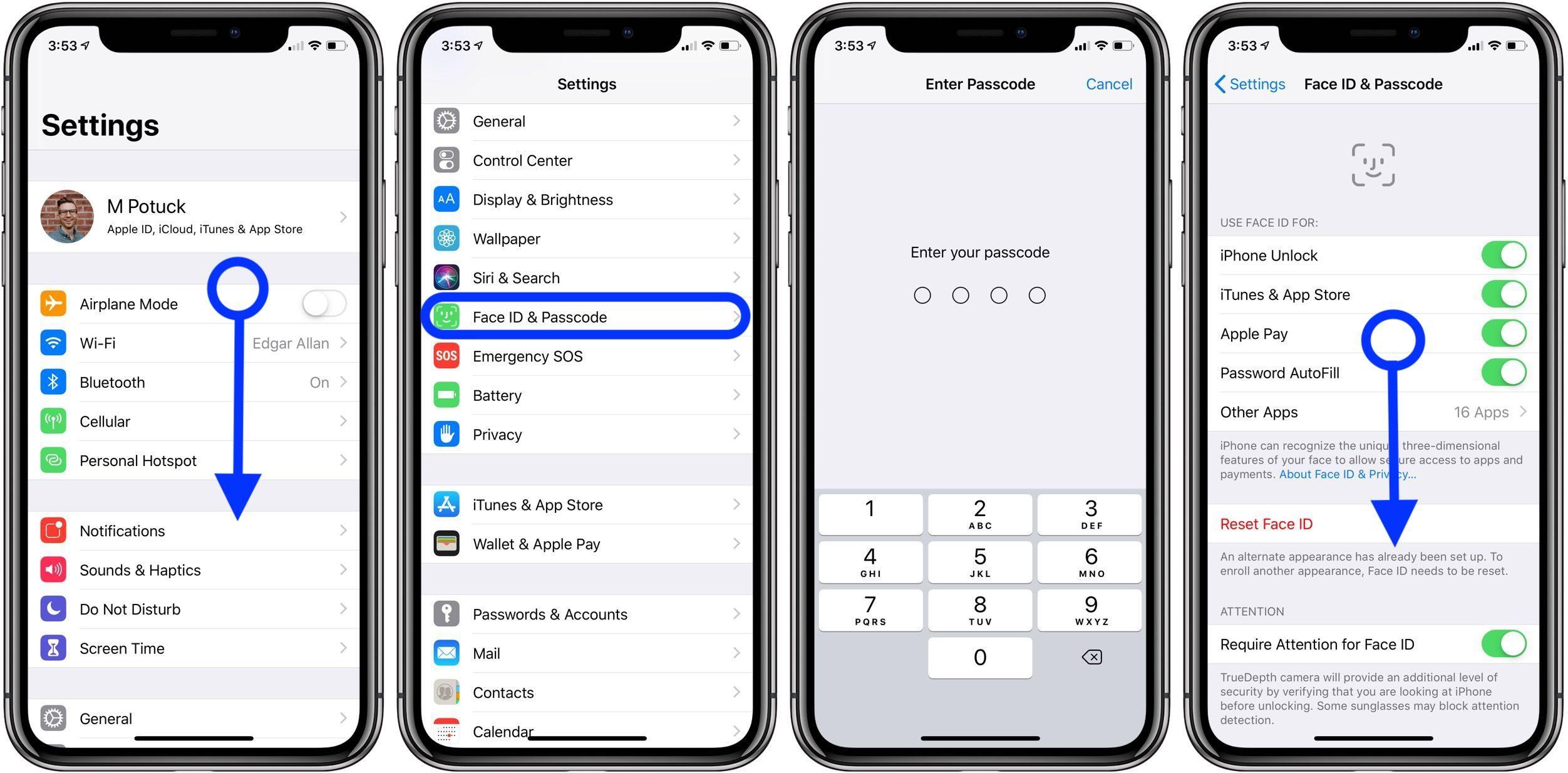 """<span href=""""https://9to5mac.com/2019/04/15/change-passcode-iphone-ipad/"""">Cómo cambiar su contraseña en el iPhone y el iPad</a>"""