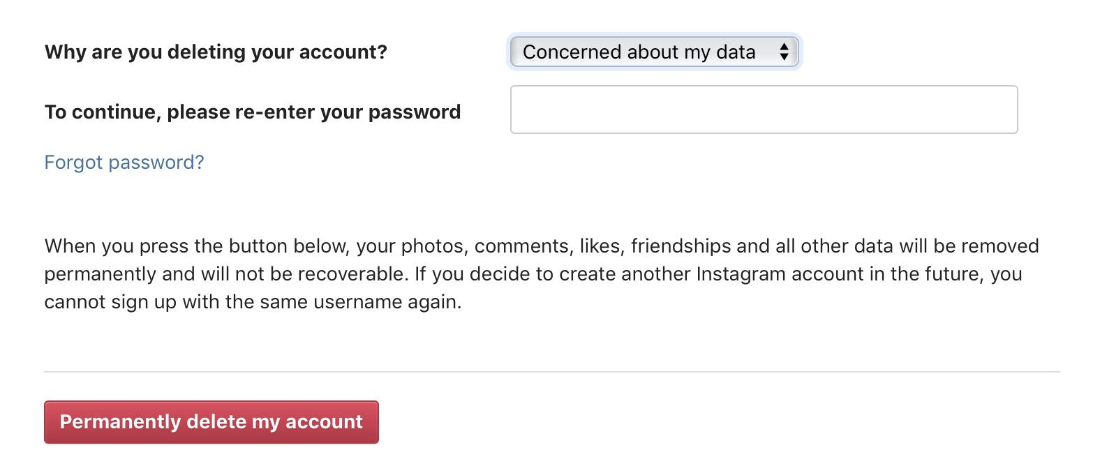"""<span href=""""https://9to5mac.com/2019/01/30/delete-instagram-account/"""">Cómo eliminar o deshabilitar temporalmente su Instagram account</a>"""