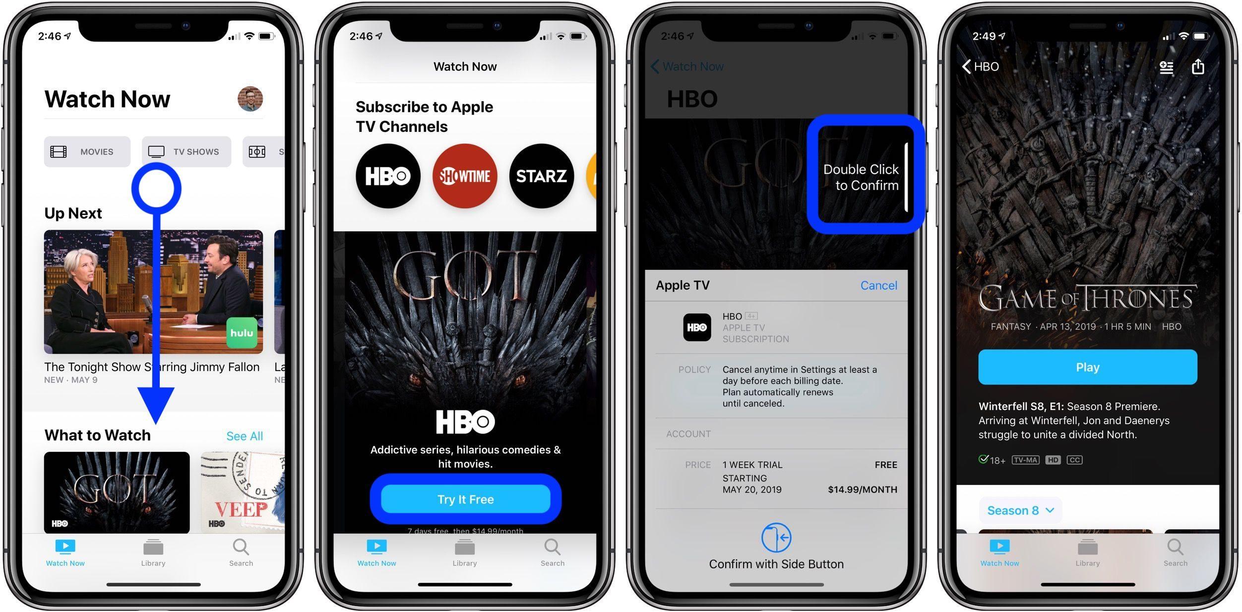 """<span href=""""https://9to5mac.com/2019/05/13/download-hbo-shows-iphone-ipad/"""">como descargar programas de HBO para ver sin conexión en el iPhone y el iPad</a>"""