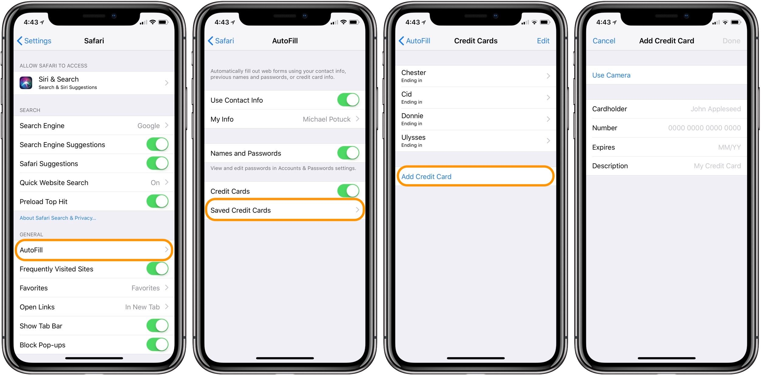 """<span href=""""https://9to5mac.com/2018/04/27/how-to-add-credit-cards-safari-autofill-iphone/"""">¿Cómo agregar tarjetas de crédito para Safari de Autocompletar en iPhone</a>"""