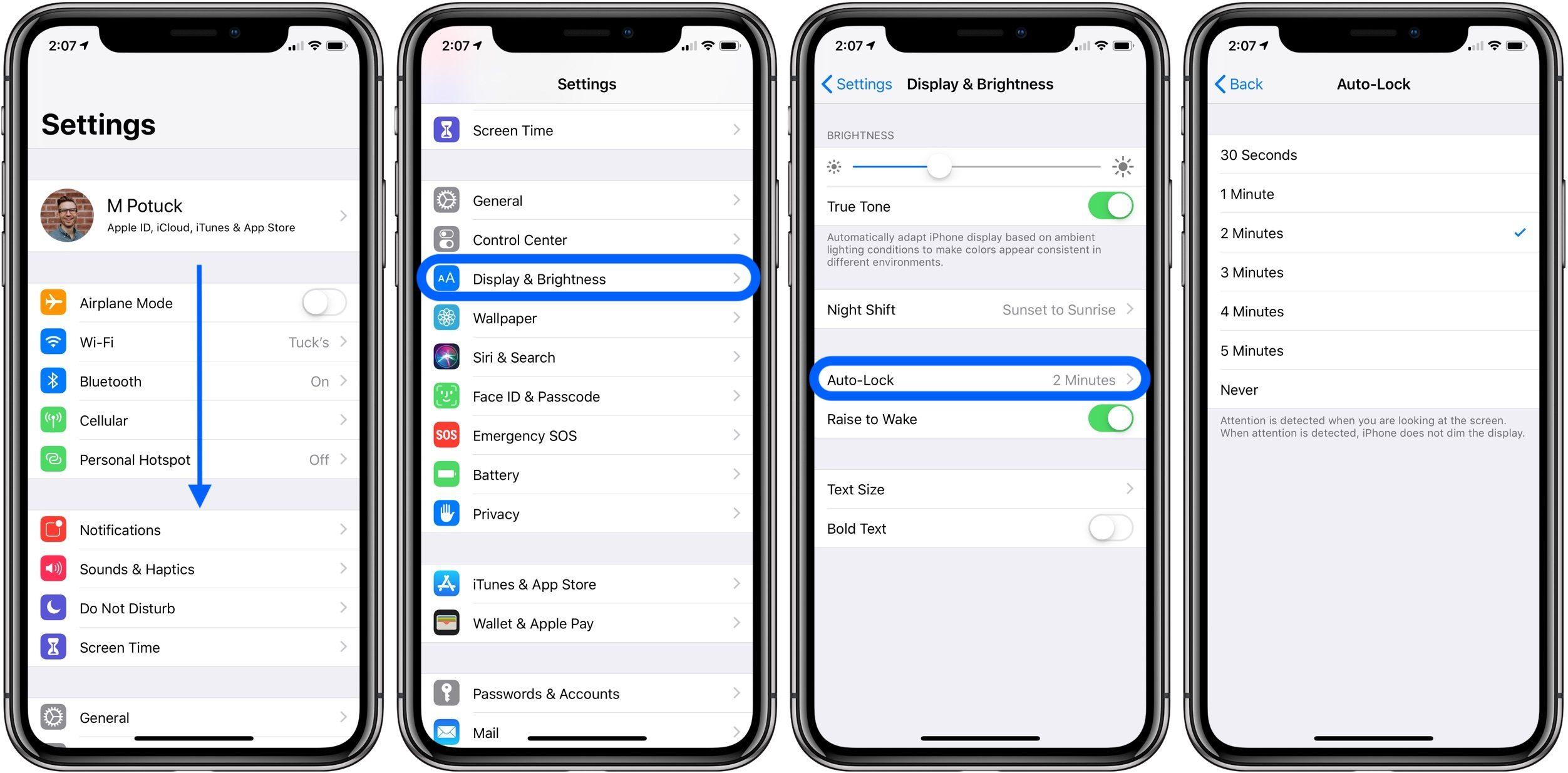 """<span href=""""https://9to5mac.com/2018/08/21/iphone-ipad-how-to-change-screen-lock-time/"""">iPhone & iPad: Cómo cambiar la pantalla de bloqueo de tiempo</a>"""