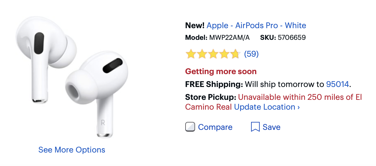 """<span href=""""https://9to5mac.com/2019/11/05/how-to-check-airpods-pro-stock-apple-amazon-best-buy/"""">Tiendas para AirPods Pro? Aquí es cómo encontrar stock disponible sin tener que esperar semanas</a>"""