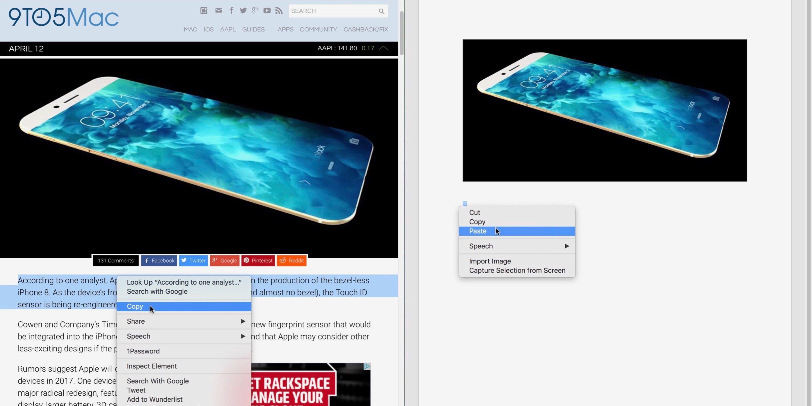 """<span href=""""https://9to5mac.com/2017/04/13/how-to-copy-paste-macbook/"""">Cómo copiar y pegar en un MacBook</a>"""