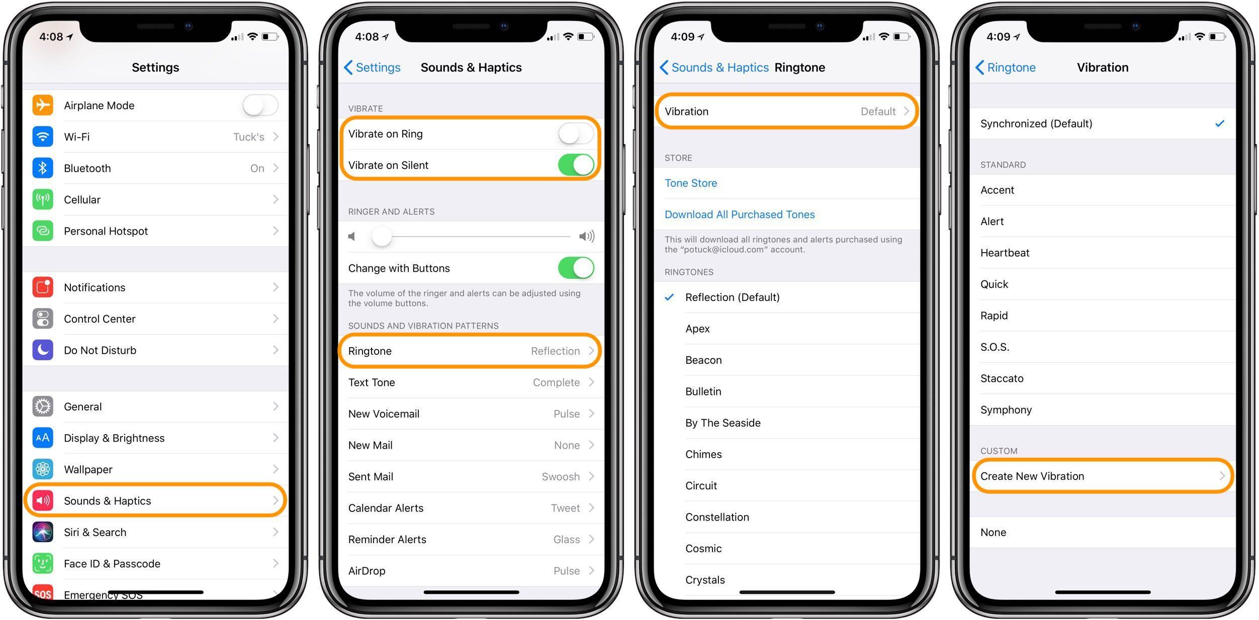 """<span href=""""https://9to5mac.com/2018/04/13/how-to-custom-vibration-pattern-ringtones-for-iphone/"""">Cómo crear personalizado patrón de vibración tonos de llamada para iPhone</a>"""