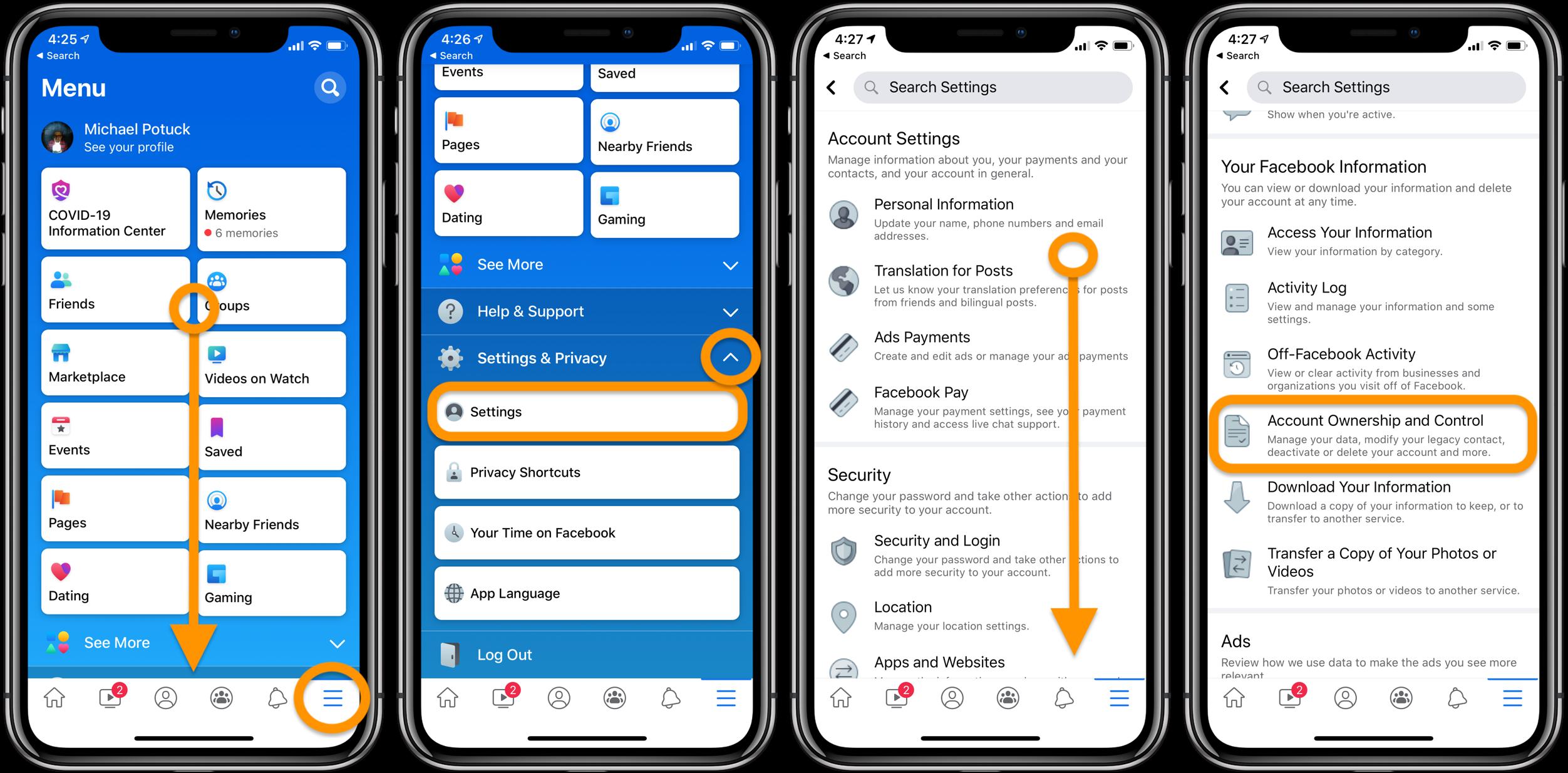 """<span href=""""https://9to5mac.com/2020/06/03/how-to-deactivate-delete-your-facebook-account-or-change-privacy-settings-on-iphone/"""">Cómo desactivar o eliminar su Facebook cuenta o cambiar la configuración de privacidad en iPhone</a>"""