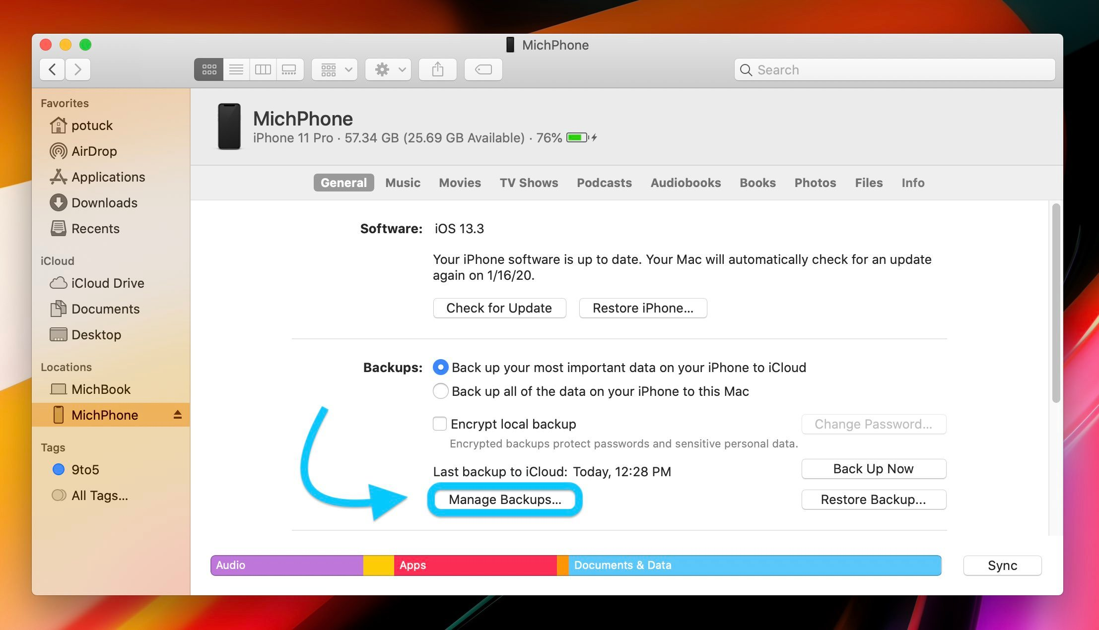 "<span href=""https://9to5mac.com/2020/01/15/how-to-delete-iphone-backups-mac-macos-catalina/"">Mac: How to delete iPhone backups in macOS Catalina</a>"