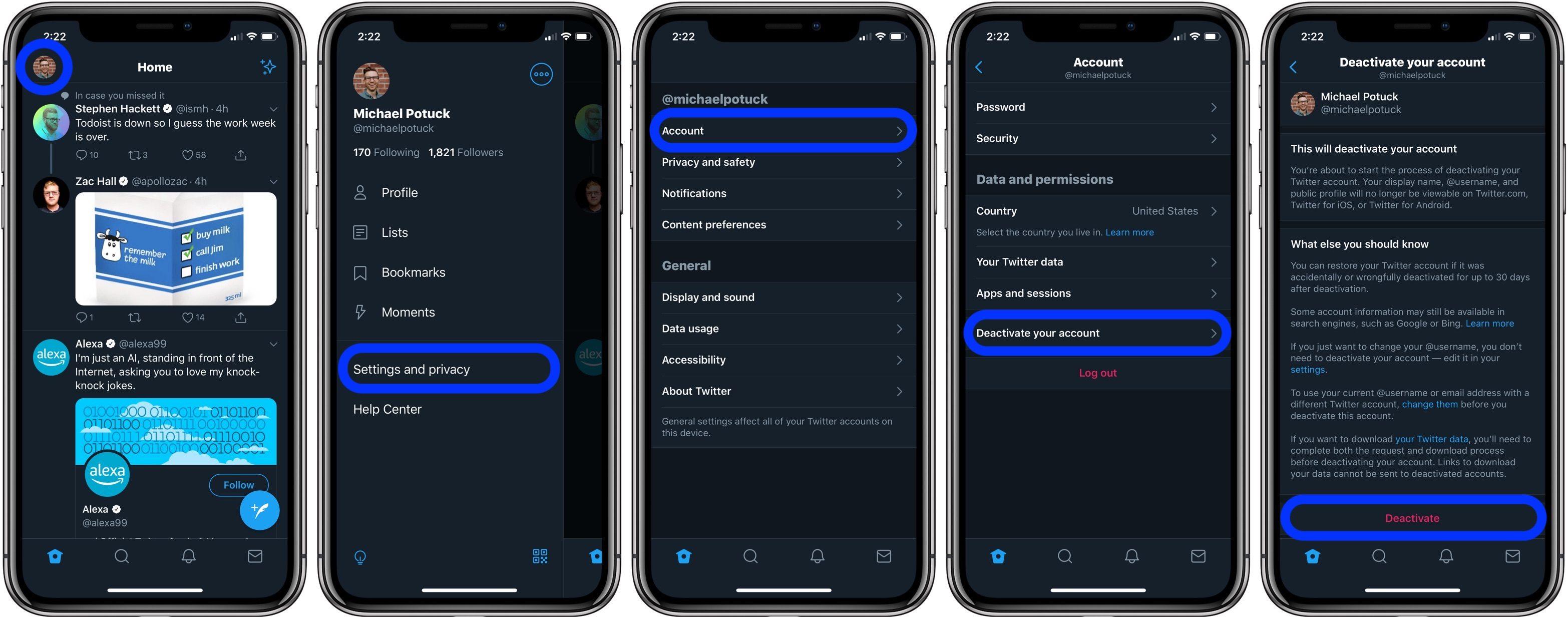 "<span href=""https://9to5mac.com/2019/08/12/delete-twitter-account-iphone/"">¿Cómo eliminar tu cuenta de Twitter en iPhone</a>"