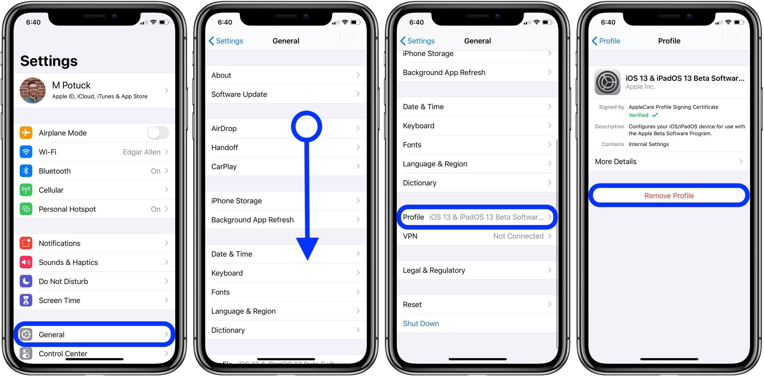 "<span href=""https://9to5mac.com/2019/08/30/downgrade-ios-13-beta/"">Cómo hacer downgrade de iOS 13.1 beta</a>"