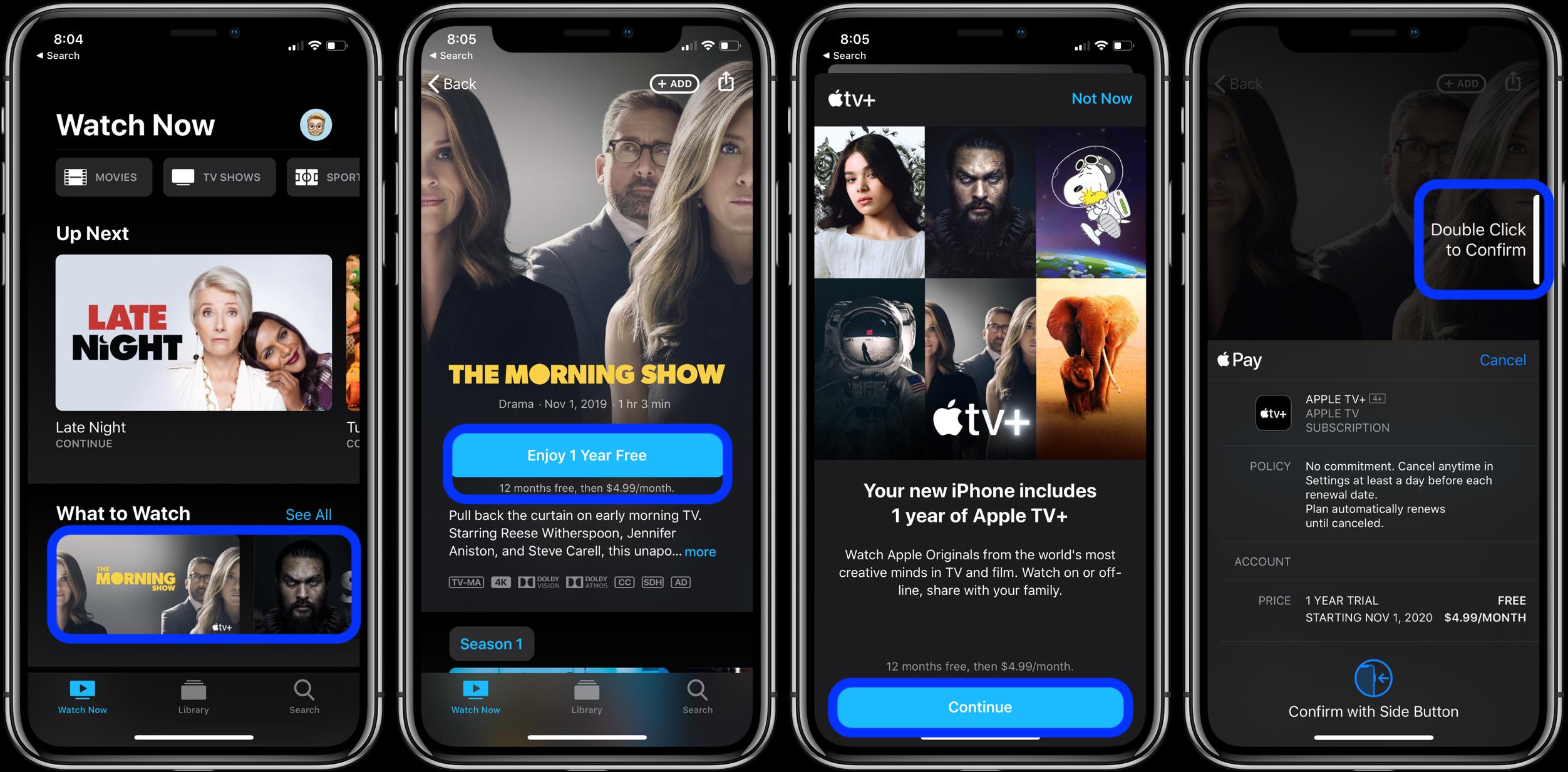 """<span href=""""https://9to5mac.com/2019/11/01/how-to-get-free-year-apple-tv-plus/"""">Aquí es cómo conseguir que su año gratis de Apple TV+</a>"""