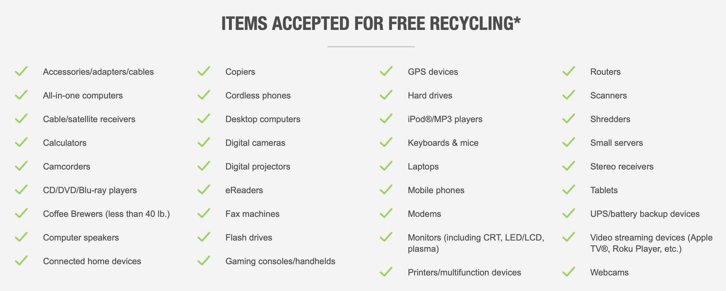 """<span href=""""https://9to5mac.com/2019/01/29/how-to-recycle-electronics/"""">Cómo reciclar electrónica de cualquier marca Apple, Best Buy y Staples</a>"""
