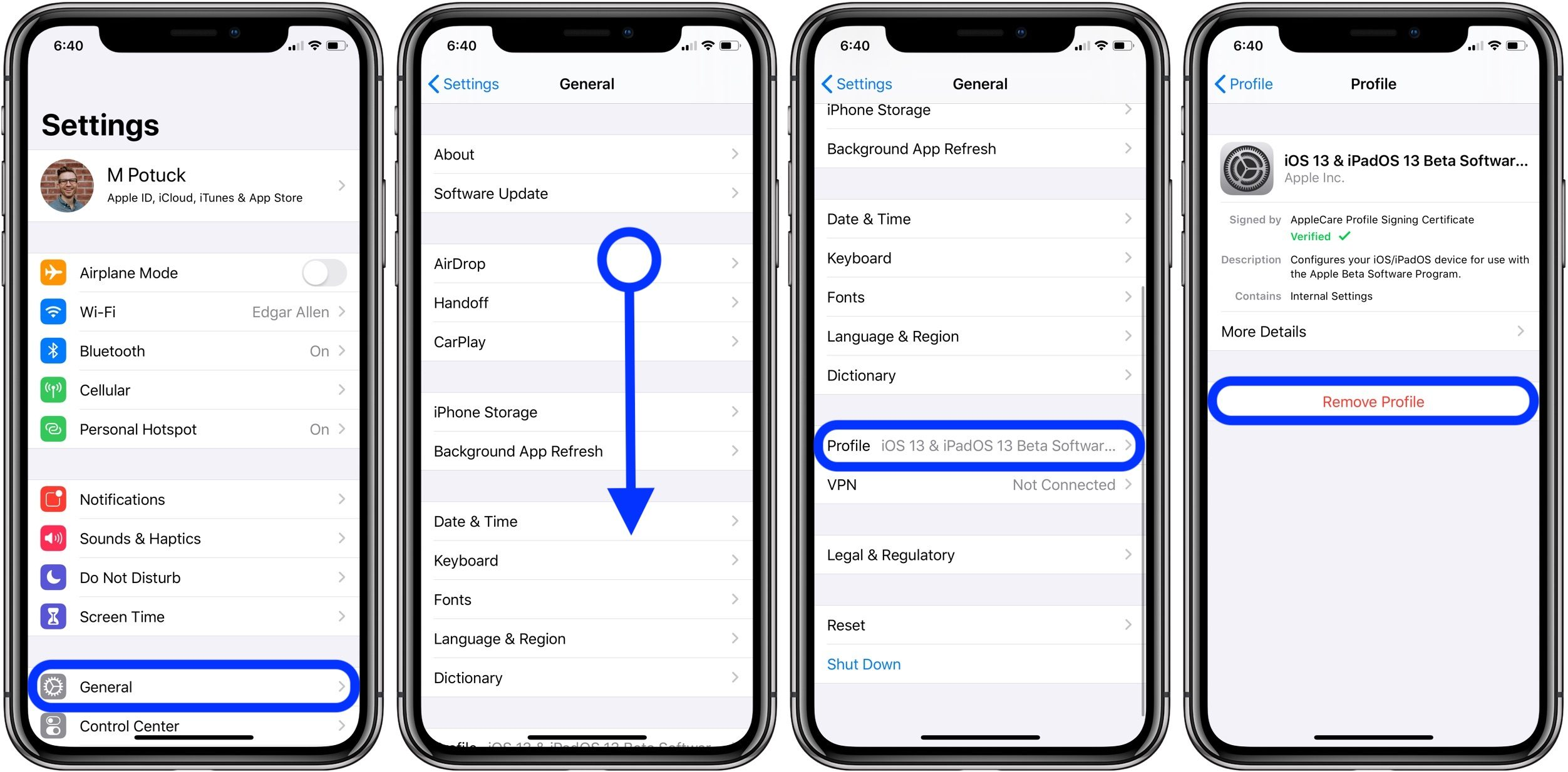 "<span href=""https://9to5mac.com/2019/08/06/remove-ios-configuration-profile-iphone/"">How to remove iOS configuration profiles on iPhone or iPad</a>"