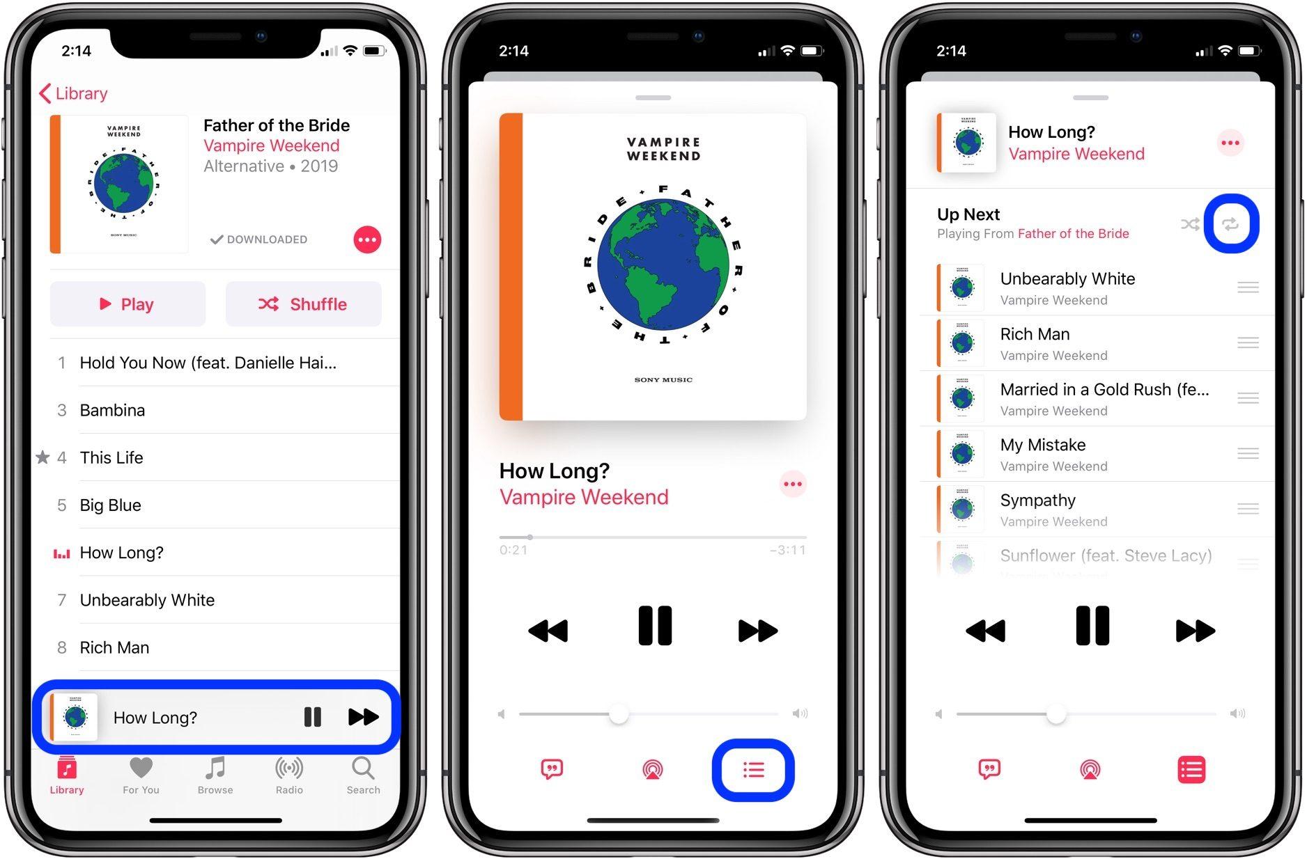 """<span href=""""https://9to5mac.com/2019/07/24/repeat-song-ios-13/"""">Cómo repetir la canción o el álbum en iOS 13</a>"""