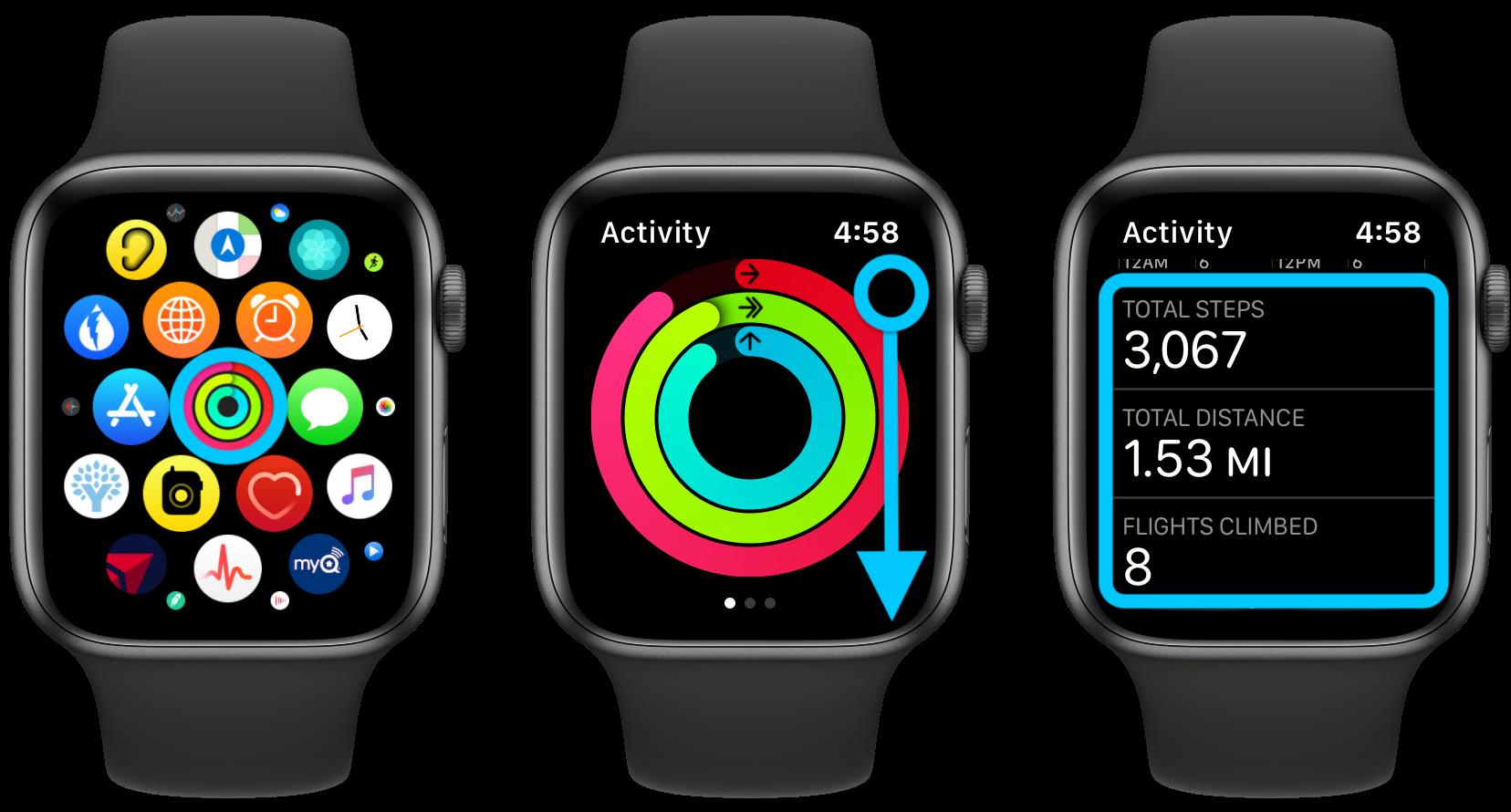"""<span href=""""https://9to5mac.com/2020/02/24/apple-watch-how-to-track-steps/"""">Cómo ver tus pasos con el Apple Watch, incluyendo la distancia y las tendencias</a>"""