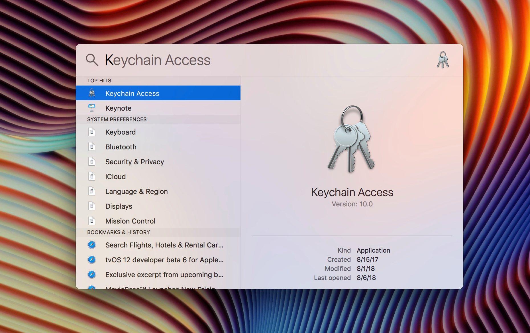 """<span href=""""https://9to5mac.com/2018/08/06/mac-how-to-see-wi-fi-passwords-for-networks-youve-connected-to/"""">Mac: Cómo ver las contraseñas Wi-Fi para redes en las que se ha conectado a</a>"""