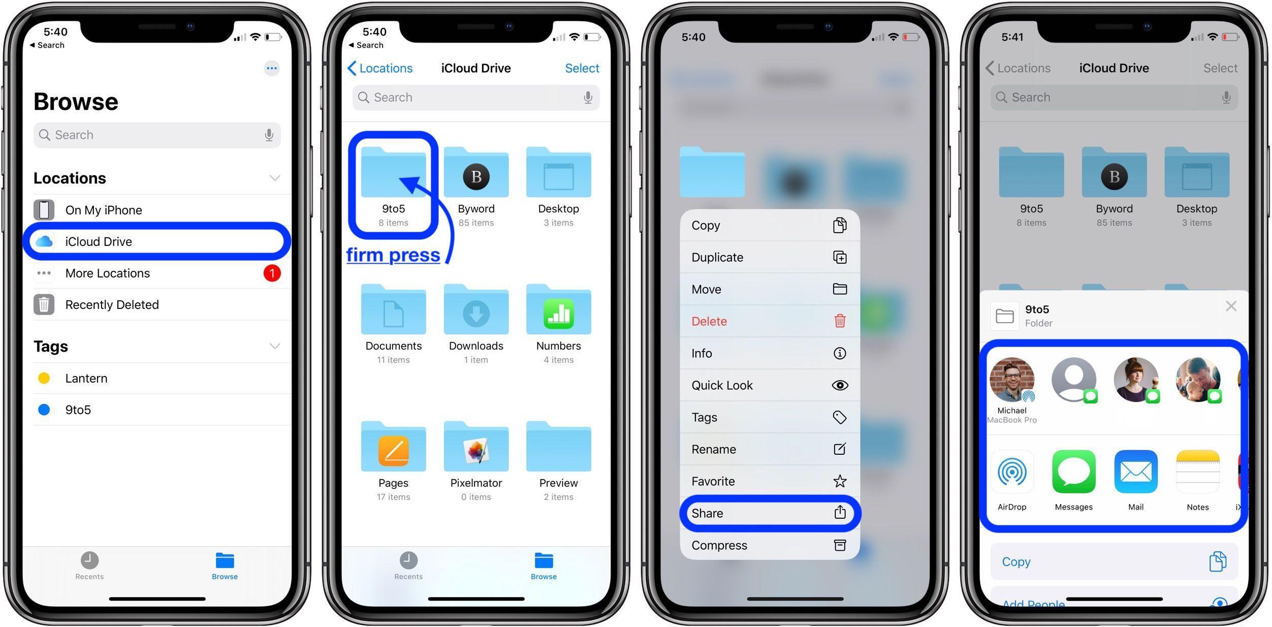 "<span href=""https://9to5mac.com/2020/03/24/share-icloud-drive-folders-iphone-ipad/"">iOS 13.4: Cómo compartir iCloud Drive carpetas del iPhone y el iPad</a>"