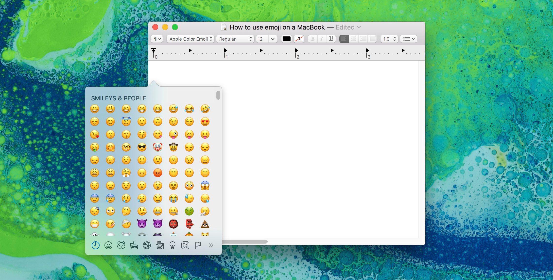 """<span href=""""https://9to5mac.com/2017/05/04/how-to-use-new-apple-emoji-on-macbook/"""">¿Cómo utilizar el nuevo Apple emoji en un MacBook</a>"""