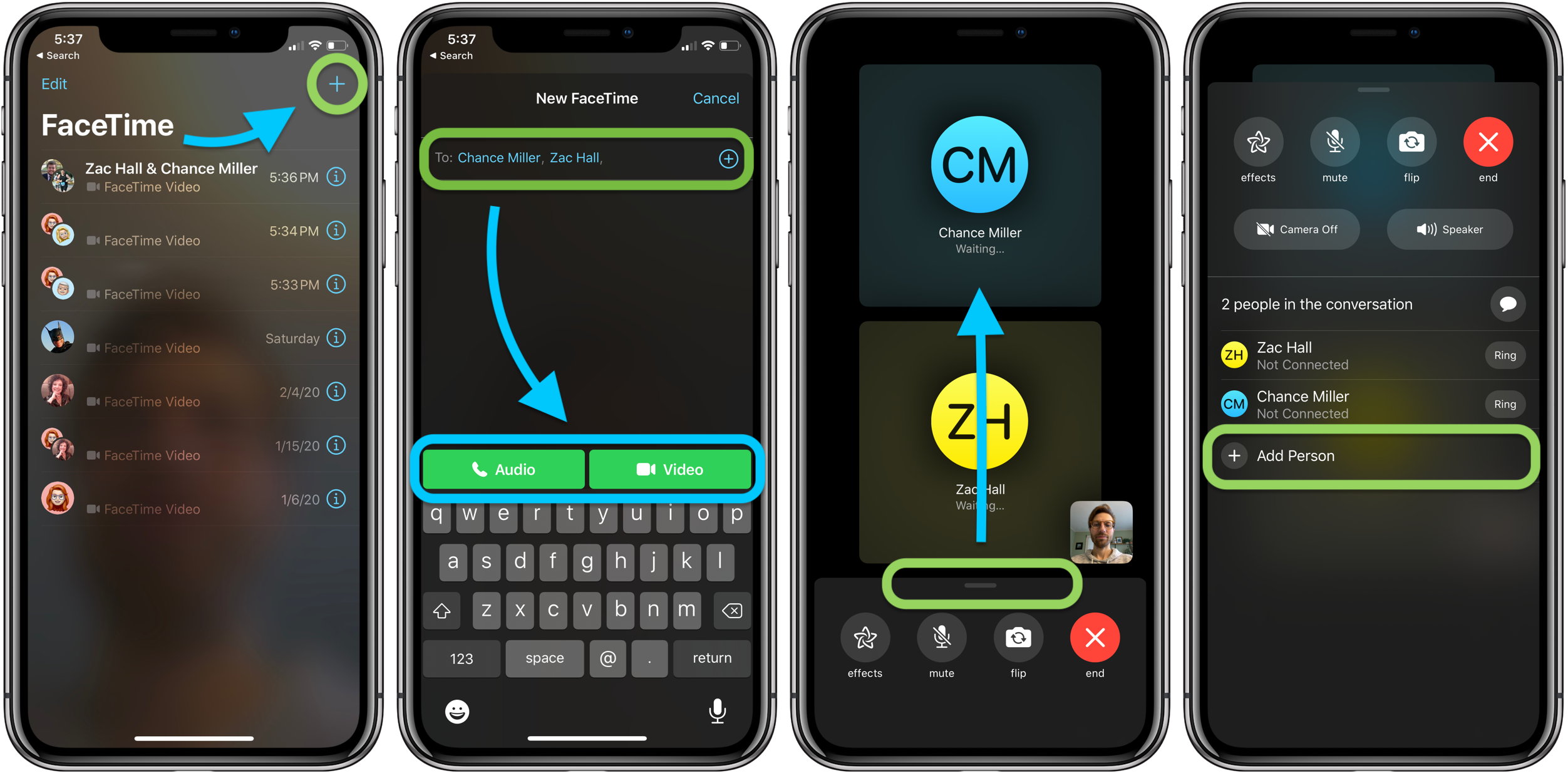 """<span href=""""https://9to5mac.com/2020/03/23/group-facetime-on-iphone-ipad/"""">¿Cómo utilizar el Grupo FaceTime en el iPhone y el iPad</a>"""