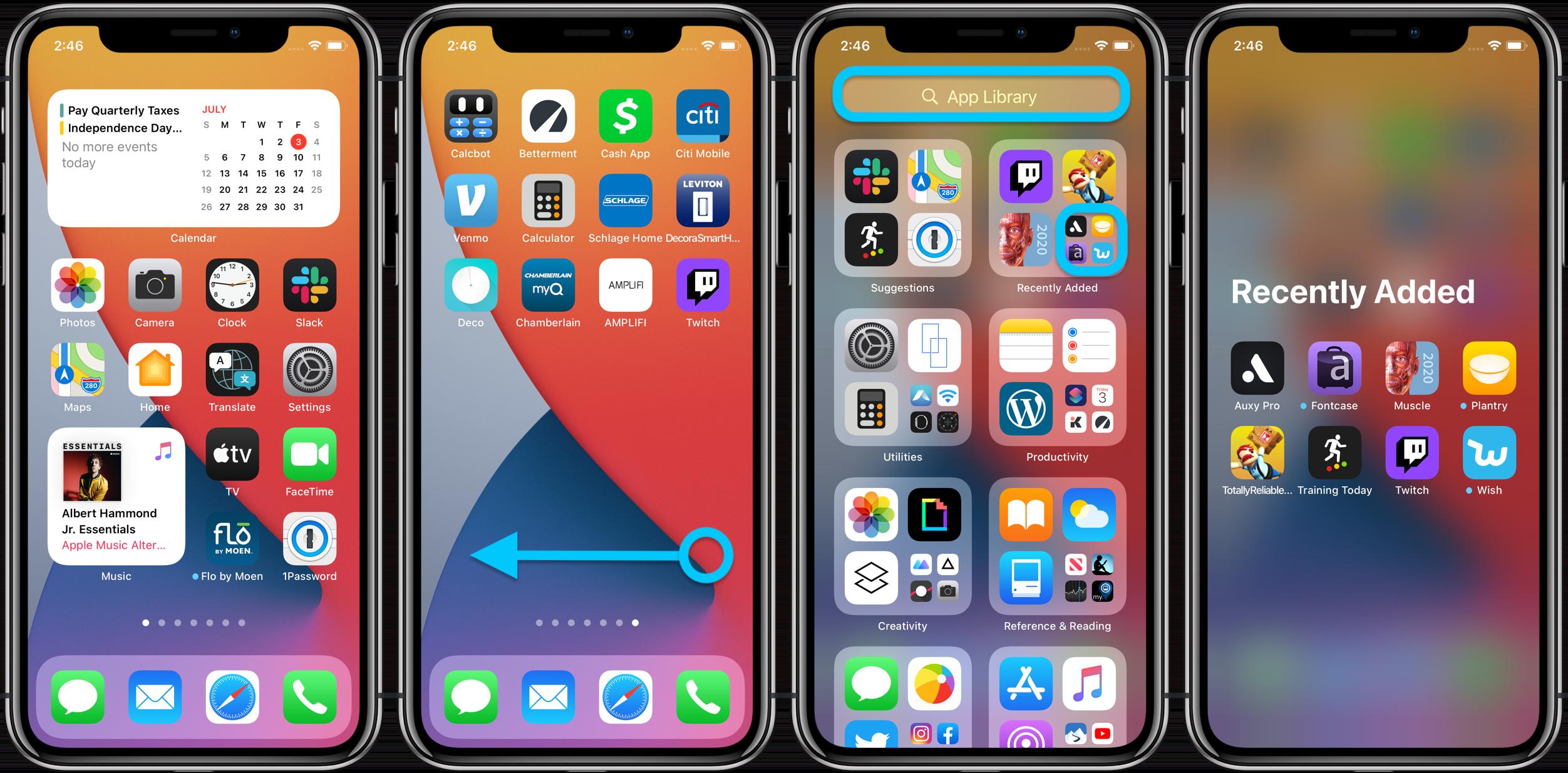 """<span href=""""https://9to5mac.com/2020/07/03/how-to-use-iphone-app-library-ios-14/"""">Manos: Todo lo que puedes hacer con la nueva Aplicación para iPhone de la Biblioteca en iOS 14</a>"""