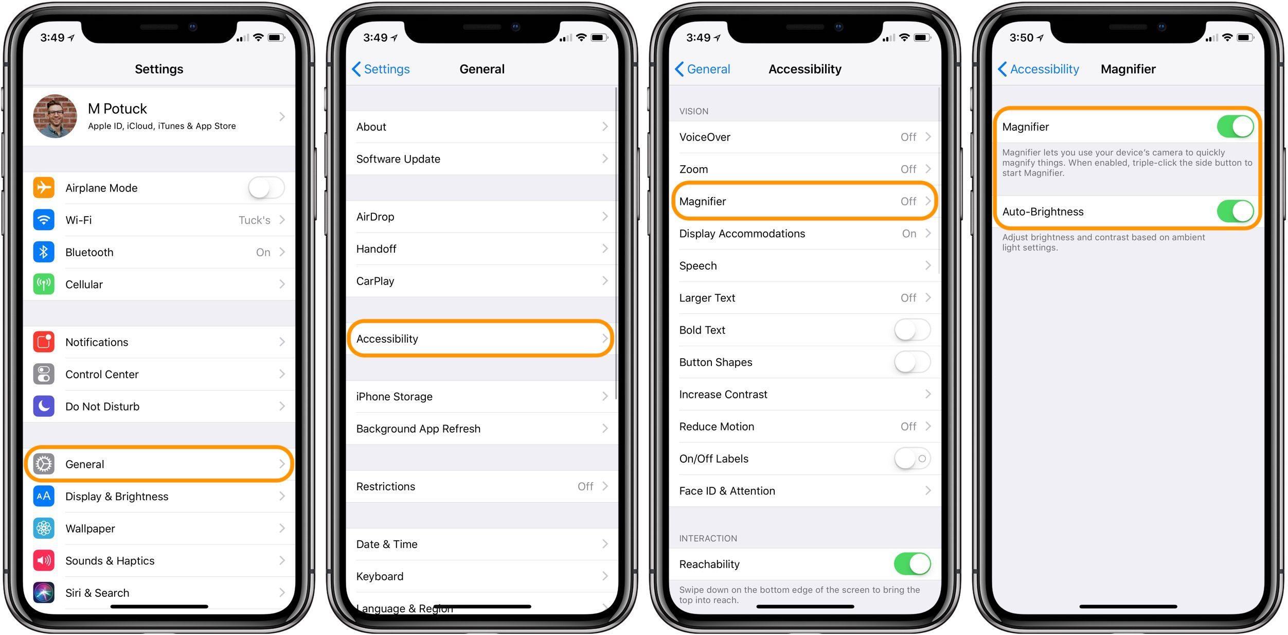 """<span href=""""https://9to5mac.com/2018/03/07/how-to-use-iphone-as-magnifying-glass/"""">¿Cómo utilizar el iPhone y el iPad como una lupa</a>"""