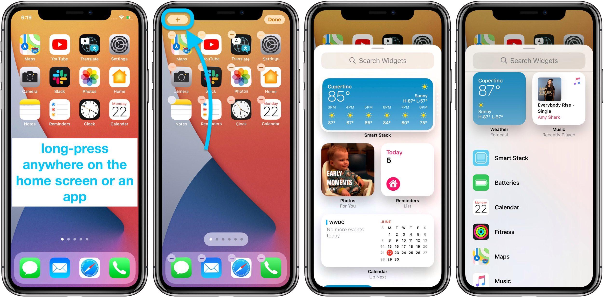 """<span href=""""https://9to5mac.com/2020/06/22/how-to-use-iphone-home-screen-widgets-ios-14/"""">Aquí es cómo utilizar la nueva pantalla de inicio del iPhone widgets en iOS 14</a>"""