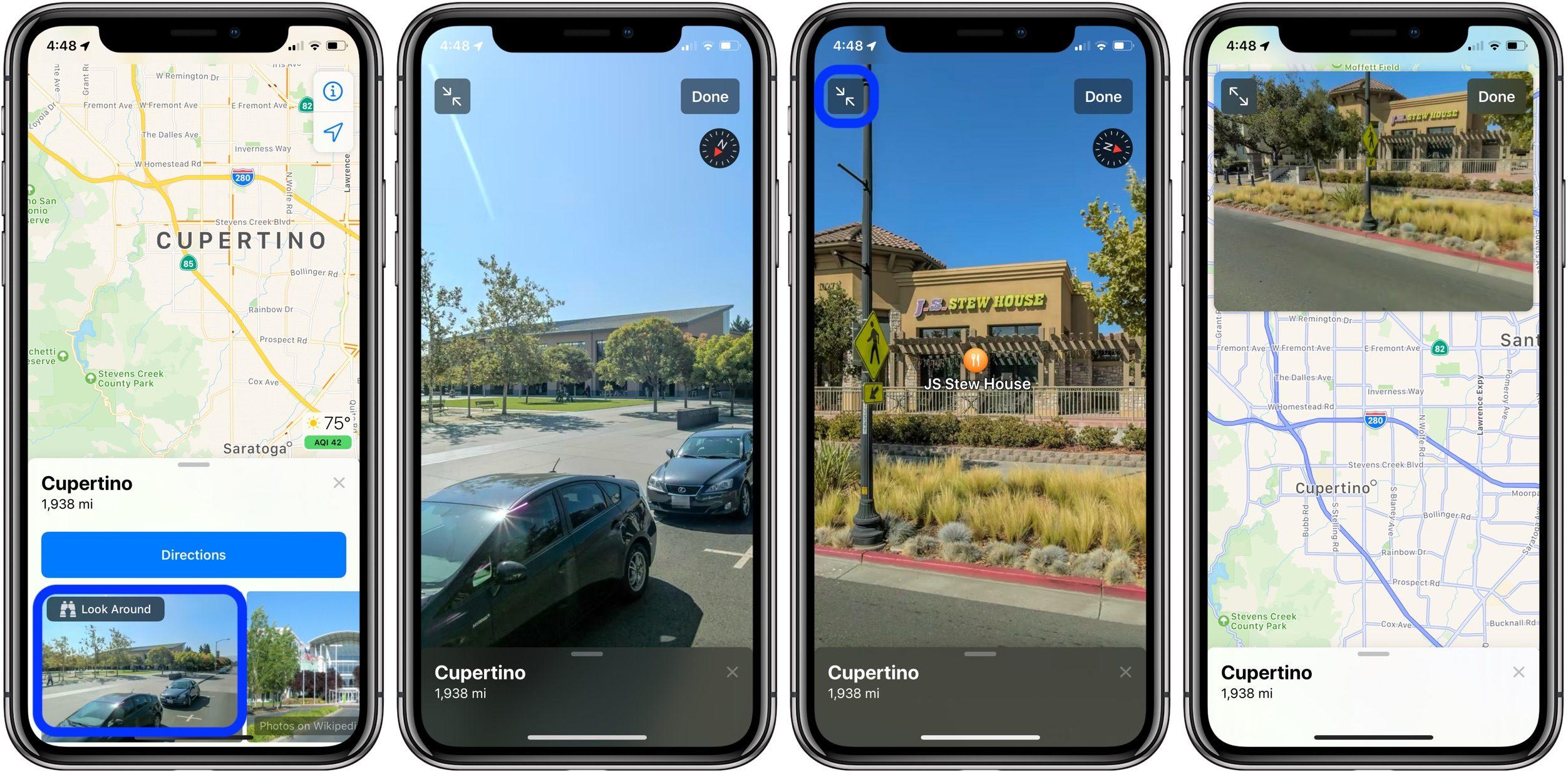 """<span href=""""https://9to5mac.com/2019/06/06/street-view-look-around-apple-maps/"""">Cómo usar la nueva Vista a la Calle-como """"Mirar Alrededor"""" característica en Mapas de Apple en iOS 13</a>"""