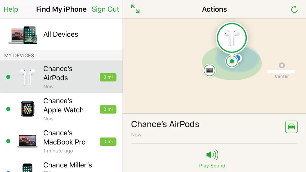 """<span href=""""https://9to5mac.com/2017/03/27/how-to-use-find-my-airpods/"""">¿Cómo utilizar los nuevos de Apple Encontrar Mi AirPods característica en iOS 10.3</a>"""