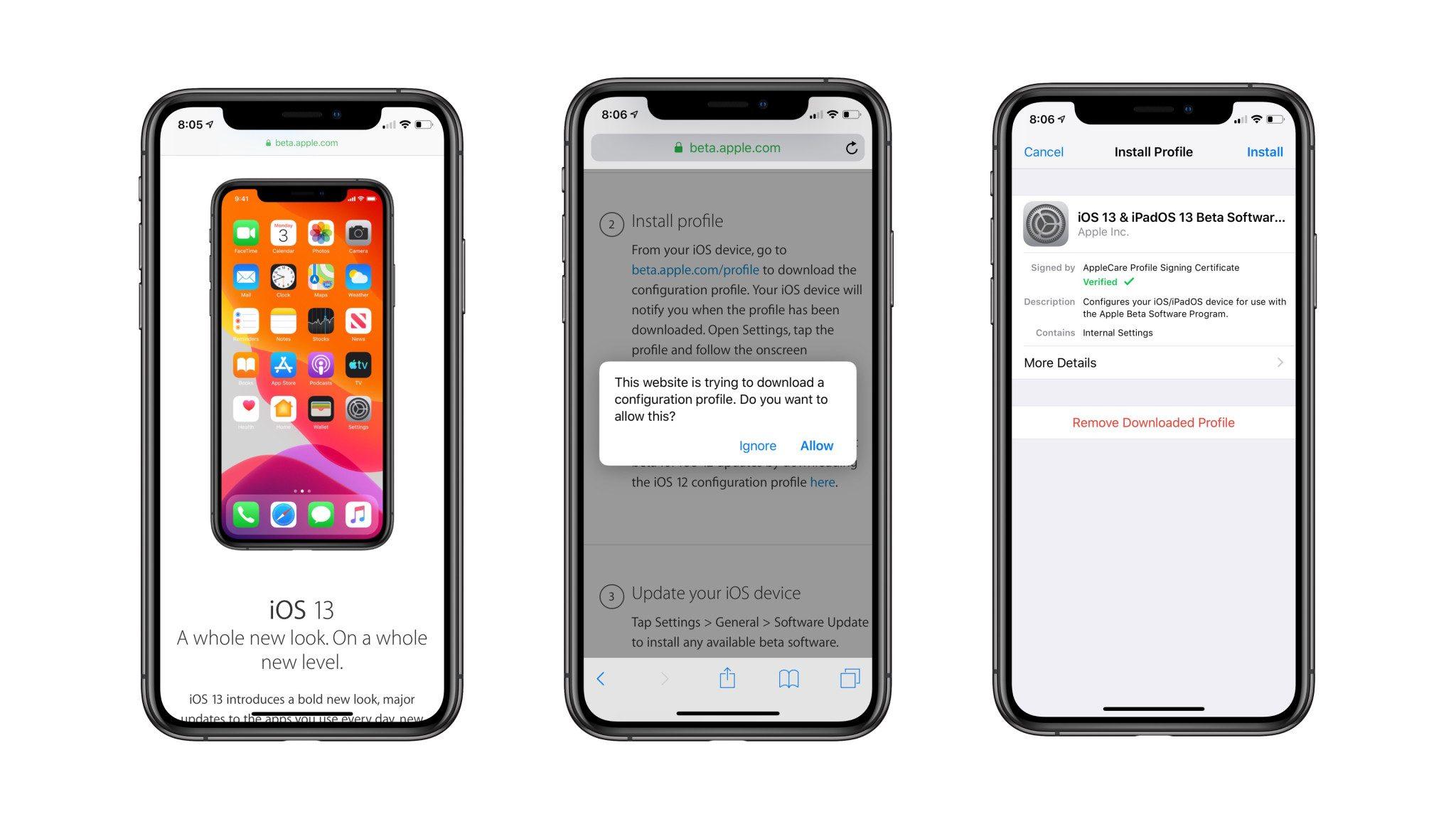 """<span href=""""https://9to5mac.com/2020/05/04/ios-13-5-public-beta-install/"""">como instalar el iOS 13.5 beta pública en su iPhone</a>"""