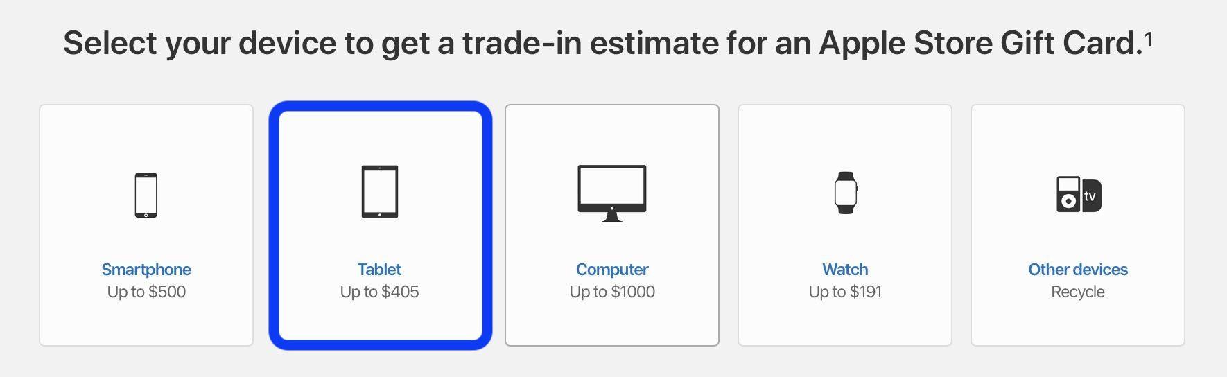 """<span href=""""https://9to5mac.com/2019/02/05/check-ipad-trade-in-value/"""">Cómo comprobar tu iPad valor de intercambio</a>"""