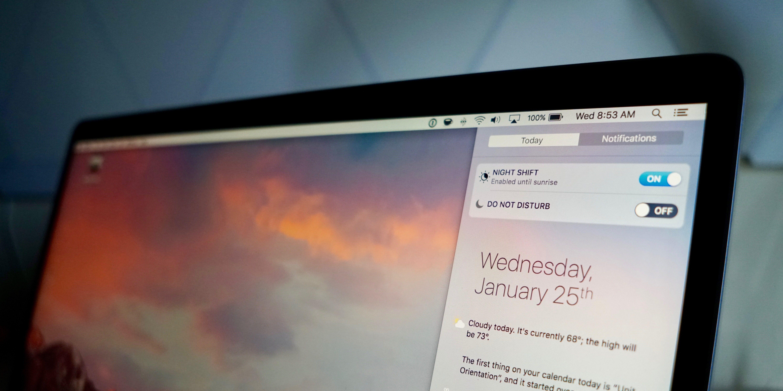 """<span href=""""https://9to5mac.com/2017/01/25/how-to-turn-on-night-shift-mac/"""">Cómo habilitar el Turno de Noche para Mac y cómo funciona en macOS 10.12.4 [Video]</a>"""
