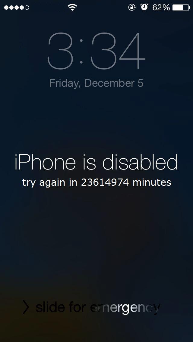 """<span href=""""https://9to5mac.com/community/incredible-iphone-is-disabled-try-again-in-23614974-minutes/"""">Incredible! el iPhone está Desactivado, inténtelo de nuevo en 23614974 minutos!</a>"""