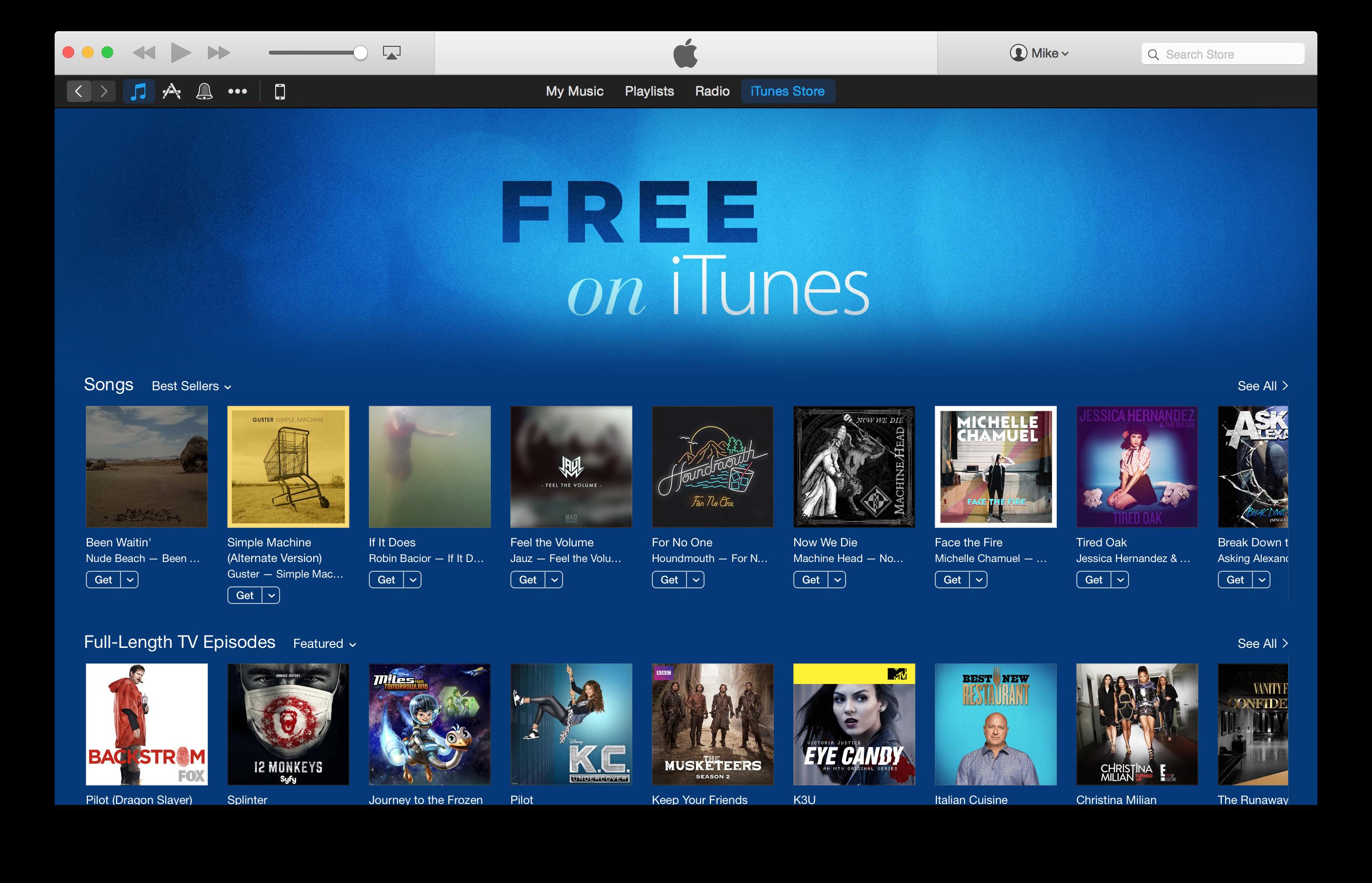 """<span href=""""https://9to5mac.com/2015/01/25/free-on-itunes/"""">Apple añade nuevas 'Gratis en iTunes' sección con singles y programas de TELEVISIÓN en iTunes Store</a>"""