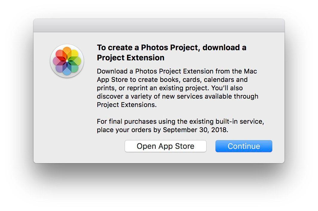 """<span href=""""https://9to5mac.com/2018/07/12/photo-print-products-discontinued/"""">Apple suspende su propia foto de un servicio de impresión, recomienda terceros Fotos de Proyectos de apps en lugar de</a>"""