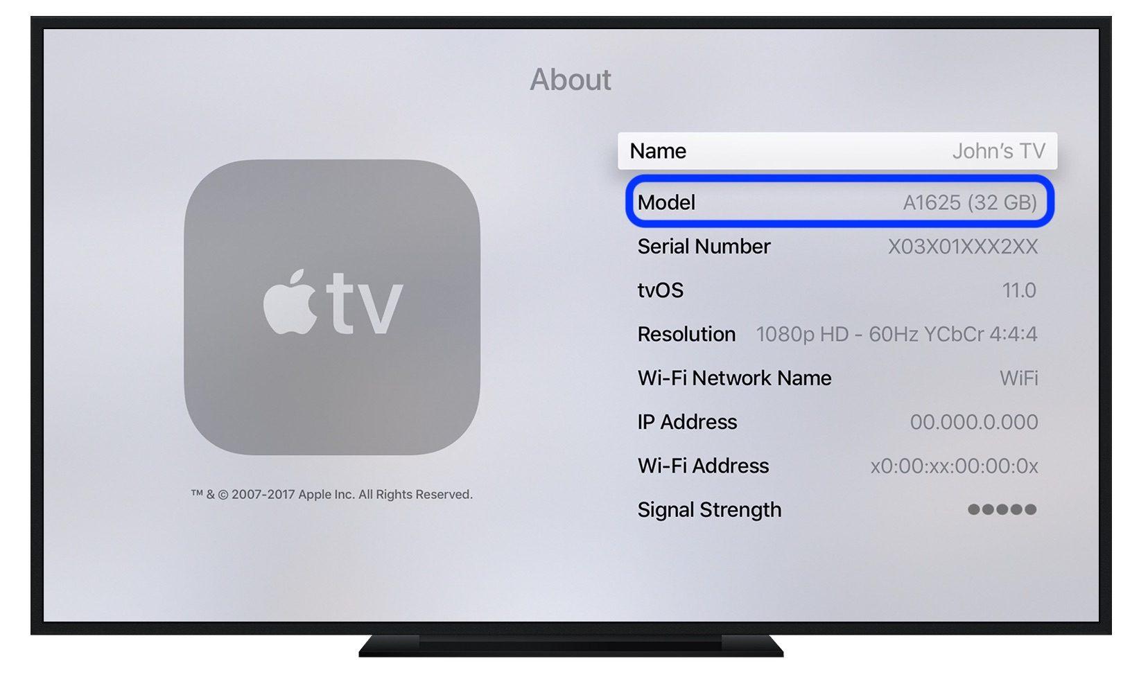 """<span href=""""https://9to5mac.com/2018/11/14/which-apple-tv-model/"""">Cómo saber que el Apple TV es el modelo que ha</a>"""